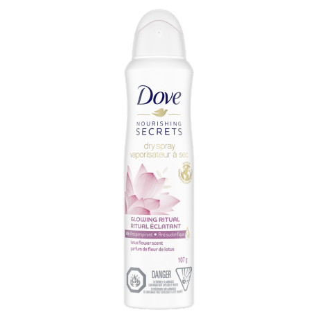 Dove Nourishing Secrets Lotus Flower Scent Dry Spray Antiperpirant 107g