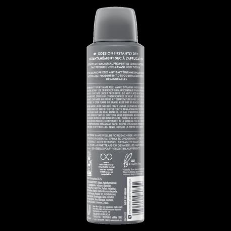 Men+Care Antibacterial Odour Defense Dry Spray Antiperspirant Back of Pack