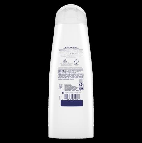 Étiquette arrière du Shampooing Purify & Hydrate