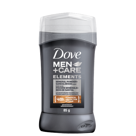 Men+Care Elements Deodorant Stick Mineral Powder + Sandalwood 85g