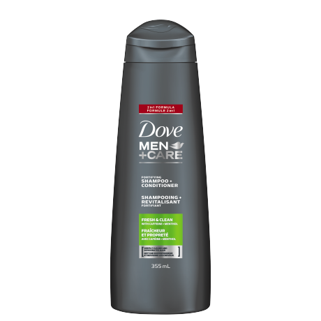 Men+Care Fresh Clean Fortifying 2 in 1 Shampoo 355ml