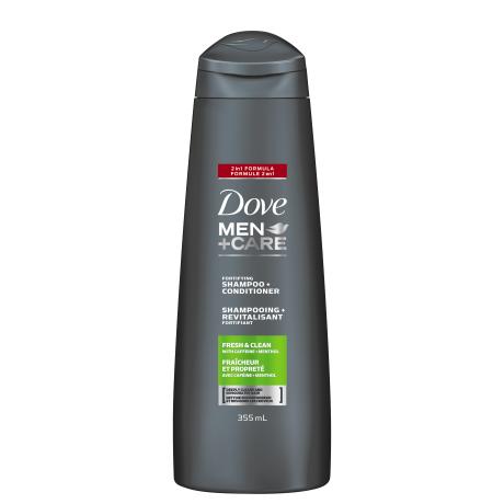 Shampooing + revitalisant fortifiant 2 en 1 Fraîcheur et propreté 355 ml