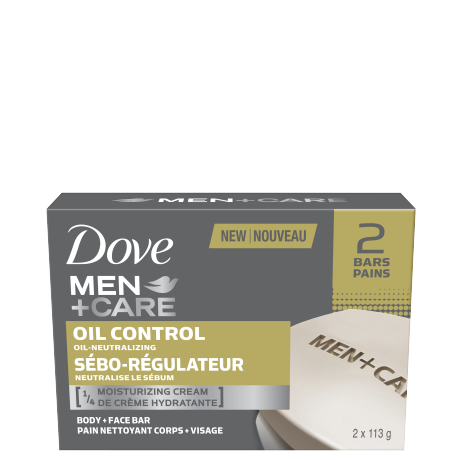 Men+Care Oil Control Body & Face Bar 2x113g