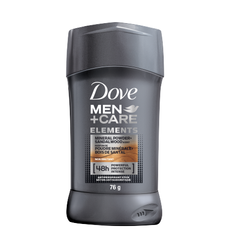 Men+Care Elements Antiperspirant Stick Mineral Powder + Sandalwood 76g
