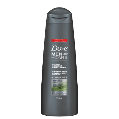 Men+Care Minerals + Sage 2-in-1 Shampoo 355ml