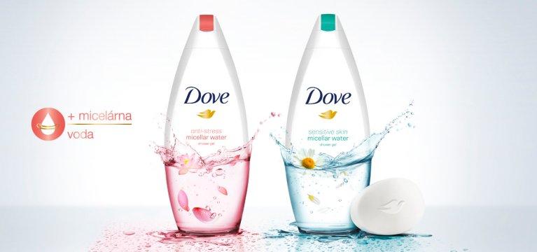 Dove predstavuje ultra jemný micelárny sprchovací rad!