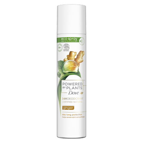Dove Powered by Plants Déodorant éco-spray Ginger 75ml