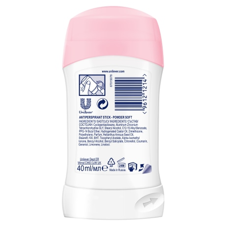 DOVE WOMAN POWDER SOFT STICK ANTI-PERSPIRANT