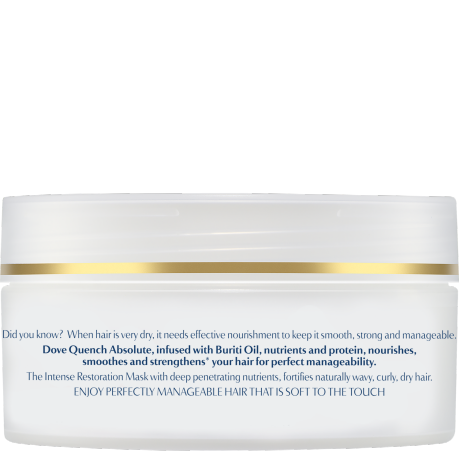 PNG - Dove_Advanced Hair Series Quench Absolute mask for curly and wavy hair