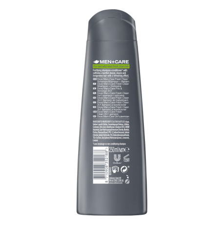 PNG - Dove men+Care Fresh Clean Shampoo+conditioner 2in1 BOP 250ml 871090835