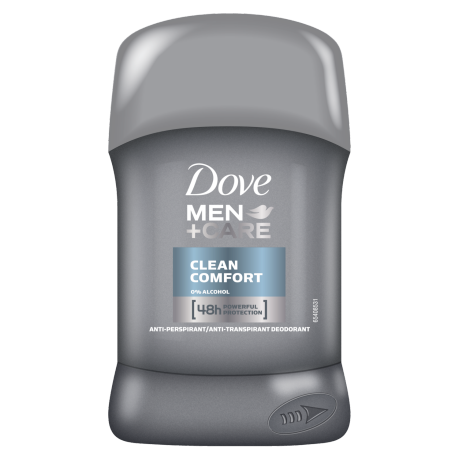 Tuhý antiperspirant Dove Men+Care Clean Comfort 50ml
