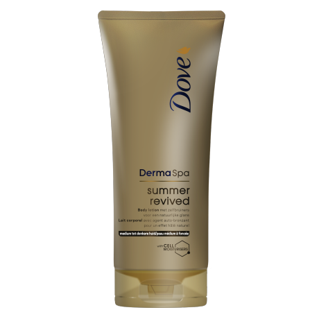 Tónujúce telové mlieko Dove DermaSpa Summer Revived dark 200ml