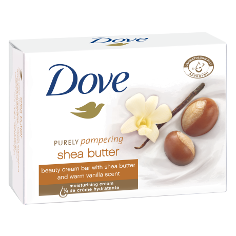 Krémová tableta Dove Purely Pampering Bambucké maslo avanilka 100g