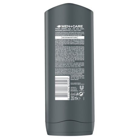 JPG - Dove_Men+Care Fresh Awake Body & Face Wash_BOP_250ml_8711600672543_SE