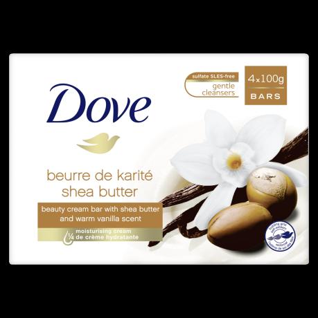 Pain de toilette Mon Soin Cocooning au beurre de karité et vanille 4x100g