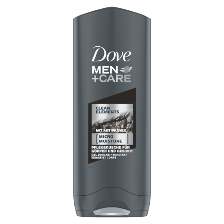 Dove MEN+CARE Pflegedusche Clean Elements mit Aktivkohle 250 ml