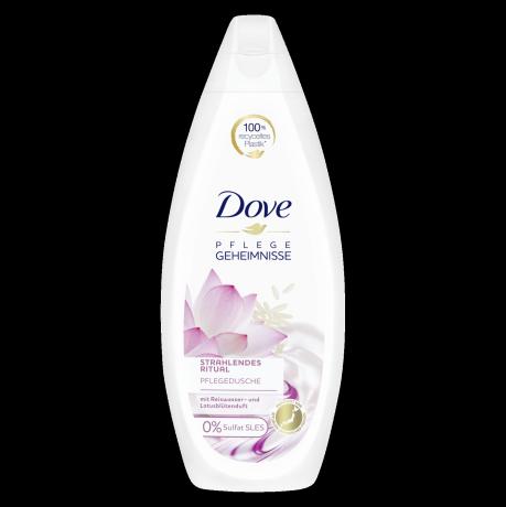 Dove Pflegegeheimnisse Pflegedusche Strahlendes Ritual mit Reiswasser und Lotusblütenduft 250 ml