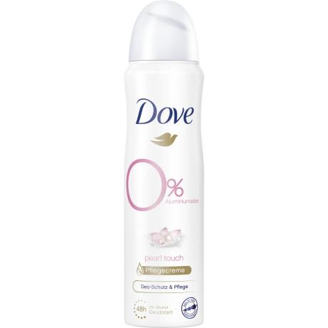 Dove Pearl Touch 0% Jasmin- & Wasserlilienduft Deodorant-Spray 150 ml