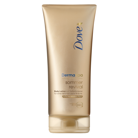 Dove DermaSpa Sommer Revival Body Lotion für helle bis mittlere Haut 200 ml