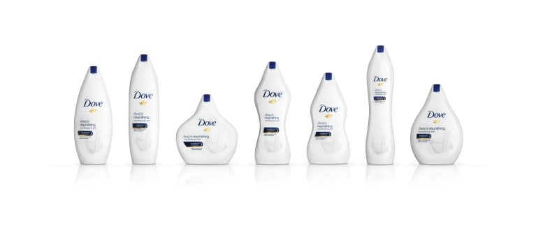 Dove Limited edition bottles