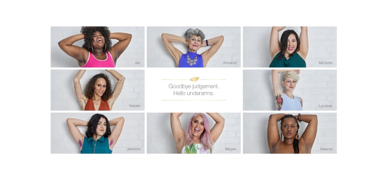 Image result for dove ideal underarm campaign