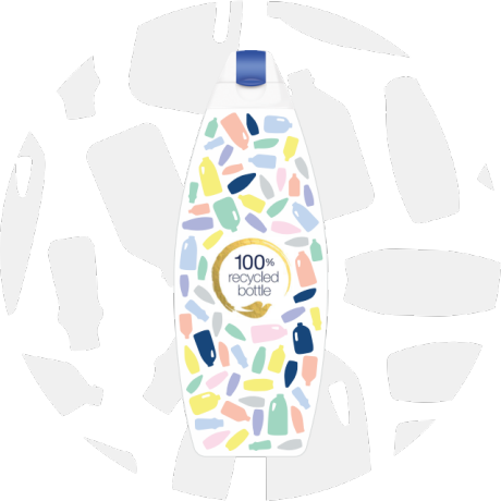 Dove 100% Recycled plastic bottles