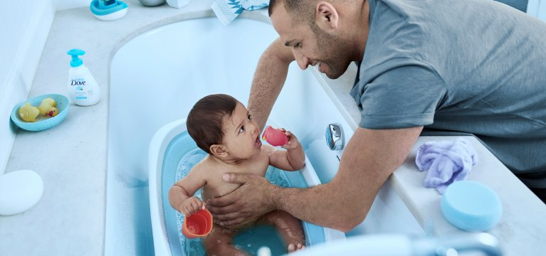 Baby Dove Peau de bébé versus peau d'adulte