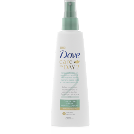 Spray Dove Care on Day 2 para Hidratar e Redefinir 200ml