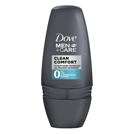 Dove Clean Comfort 0% Deodorant Roll-on