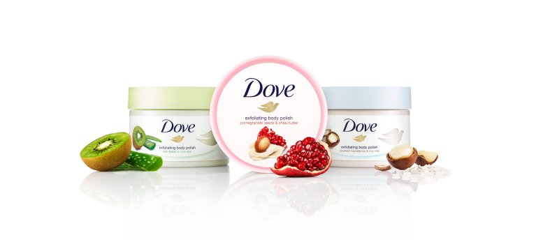 Dove Exfoliating Body Scrubs