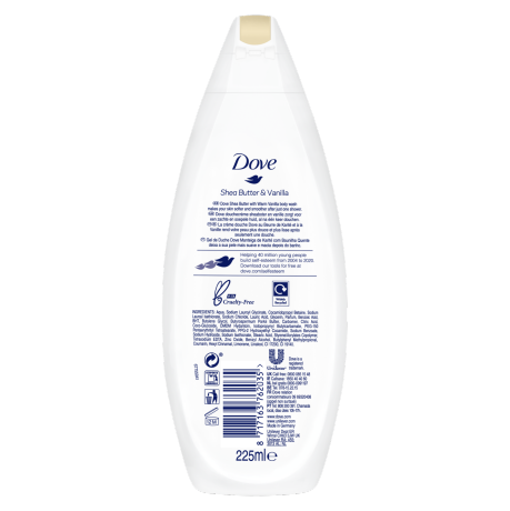 PNG - Dove BW 225ml Shea Butter