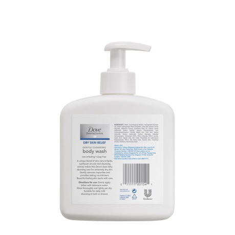 PNG - Dove DermaSeries Dry Skin Relief fragrance-free body wash, 467ml