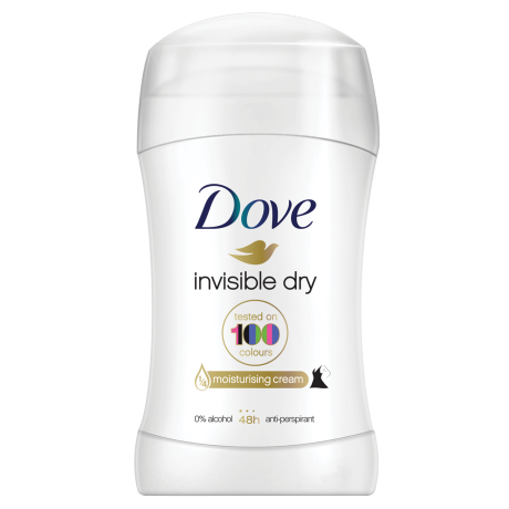 Dove Invisible Dry Antiperspirant Deodorant Stick 40ml