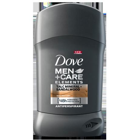 Dove Men+Care Elements Talc Mineral + Sandalwood izzadásgátló stift 50ml