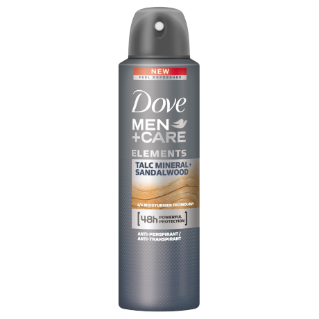 Dove Men+Care Elements Talc Mineral + Sandalwood izzadásgátló aeroszol 150ml
