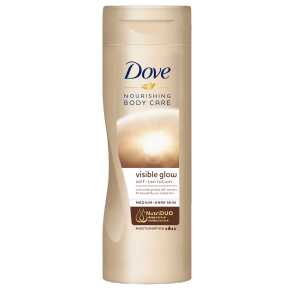 Dove Visible Glow Gradual Self-Tan Body Lotion Medium to Dark 400ml