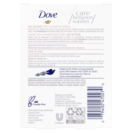 PNG - Dove Go Active packshots hair wipes