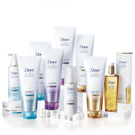Řada Dove Advanced Hair Series