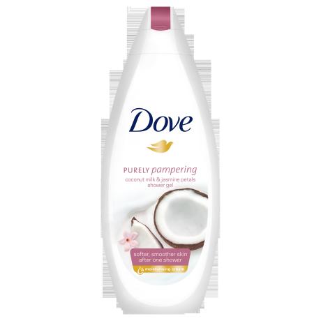 Dove Dove Purely Pampering krémtusfürdő kókusztejjel és jázmin szirom illattal 250ml