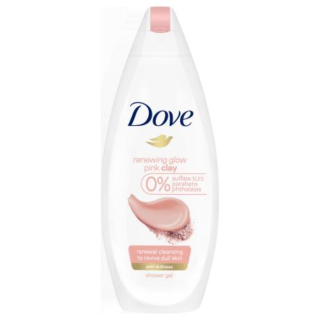 Dove Renewing Glow tusfürdő rózsaszín agyaggal 250ml