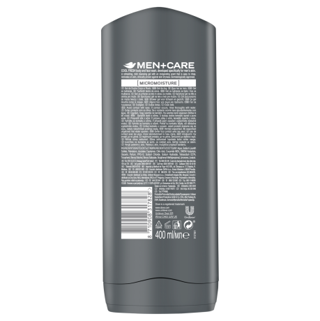 PNG - Dove Men+Care Cool Fresh body and face wash BOP 400ML 8710908317828