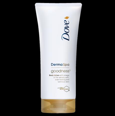 Dove DermaSpa Goodness³ gyorsan felszívódó testápoló száraz bőrre 200ml