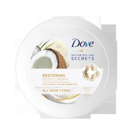 Dove Nourishing Secrets Body Cream Restoring Ritual- Coconut Oil and Almond Milk 250ml