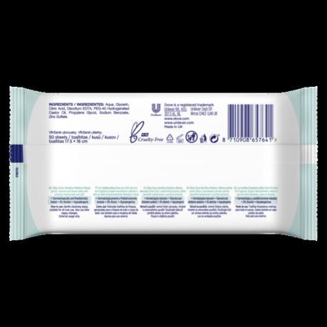 PNG - Baby Dove Sensitive Moisture Wipes 50pcs,