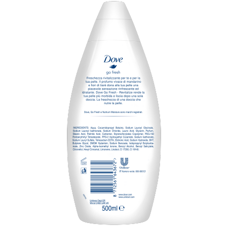 DOVE Go Fresh Revitalize Bath btl BOP 500ml 8712561643672 IT
