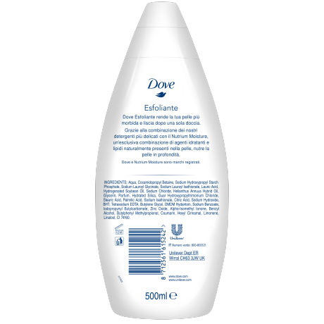 DOVE_Gentle Exfoliating Bath btl_BOP_500ml_8712561615242_IT