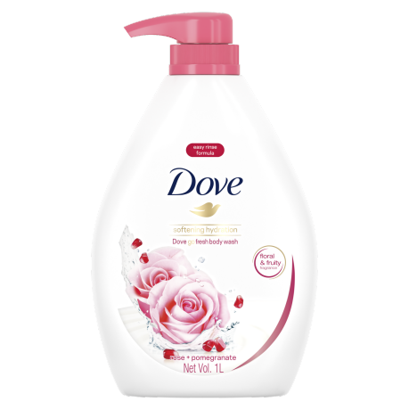 Dove Go Fresh Softening Hydration Body Wash 1000ml