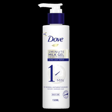 Dove 1 Minute Ultra Light Repair Milk Gel Conditioner 150ml