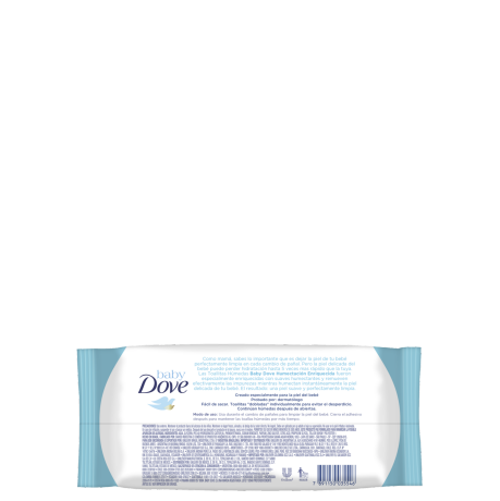 Baby Dove toallitas húmedas 50 unidades - Humectación Enriquecida