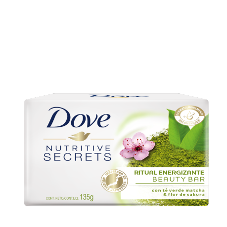 Dove Nutritive Secrets Barra de Belleza Matcha y Flor de Sakura 135g